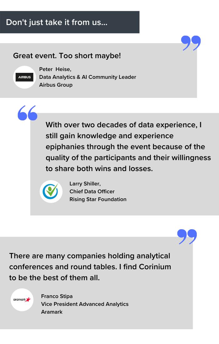DataOps US - February 2 - 4, 2021 Testimonials